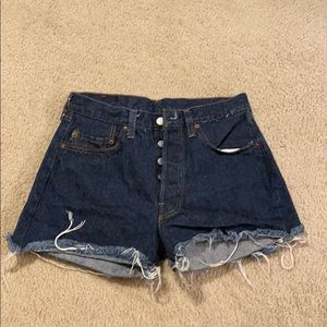 Vintage Levi USA 501 cut off denim shorts 30